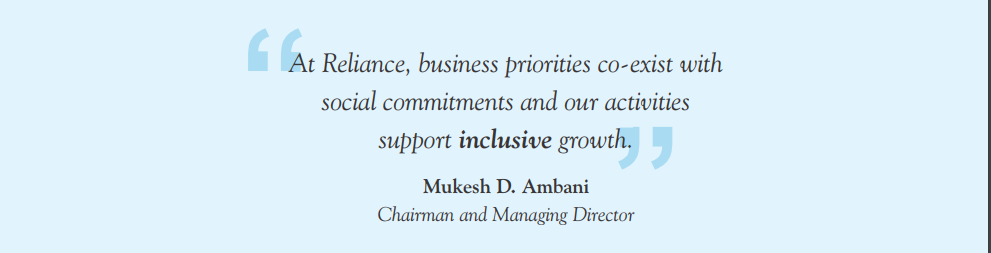 reliance csr philosophy